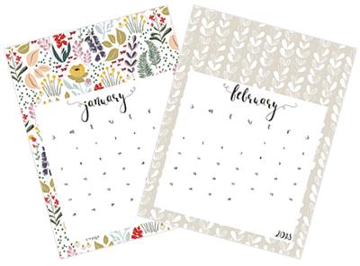お洒落な花木カレンダー