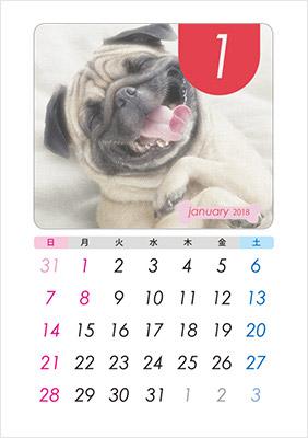 イラスト入りや写真入りなどのカレンダーテンプレートが色々