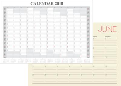 無料ダウンロードできる!エクセル月別カレンダー2019年版