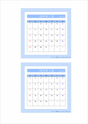 カレンダー素材館