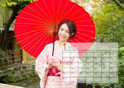 自分だけの拘り写真カレンダーが出来上がります。