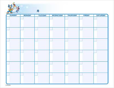Disneyキッズの無料カレンダー1
