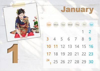 写真入りの卓上カレンダーがパワーポイントで簡単に